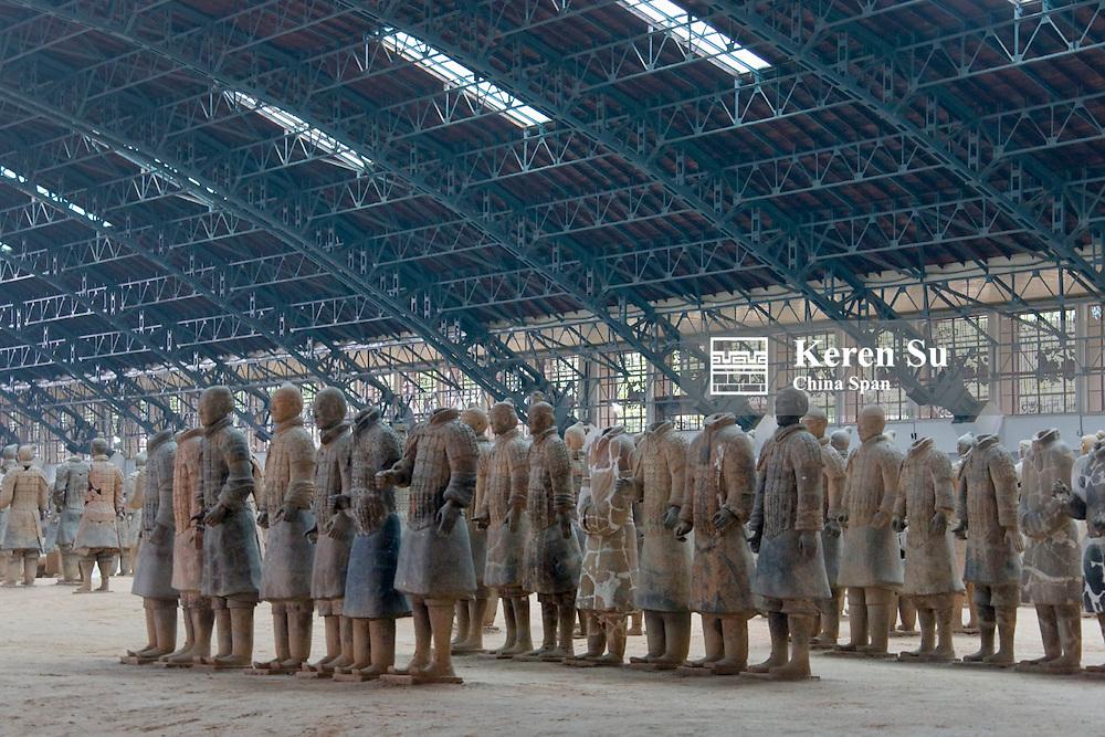 Terra cotta warriors in Emperor Qinshihuangdi's Tomb, Xian, Shaanxi Province, China