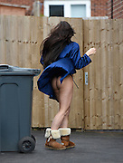 EXCLUSIVE<br /> Laura Alicia Summers caught out in her underwear putting the bins out.'<br /> Laura Alicia Summers, who could not be defined as male or female at birth, The Ex On The Beach beauty Laura Alicia Summers  proudly revealed that her body while putting out her morning bins, Laura admitted she has splashed out a hefty £150,000 on cosmetic procedures over the years.<br /> Exclusivepix Media