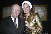 Julian Fellowes and Lady Kitchener-Fellowes, Tne  launch of the Debrett's Championships at Christie's, St. James's, London,  31st January,2007 -DO NOT ARCHIVE-© Copyright Photograph by Dafydd Jones. 248 Clapham Rd. London SW9 0PZ. Tel 0207 820 0771. www.dafjones.com.