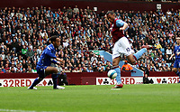 Photo: Mark Stephenson.<br /> Aston Villa v Everton. The FA Barclays Premiership. 23/09/2007.Villa's John Carew makes it 1-0