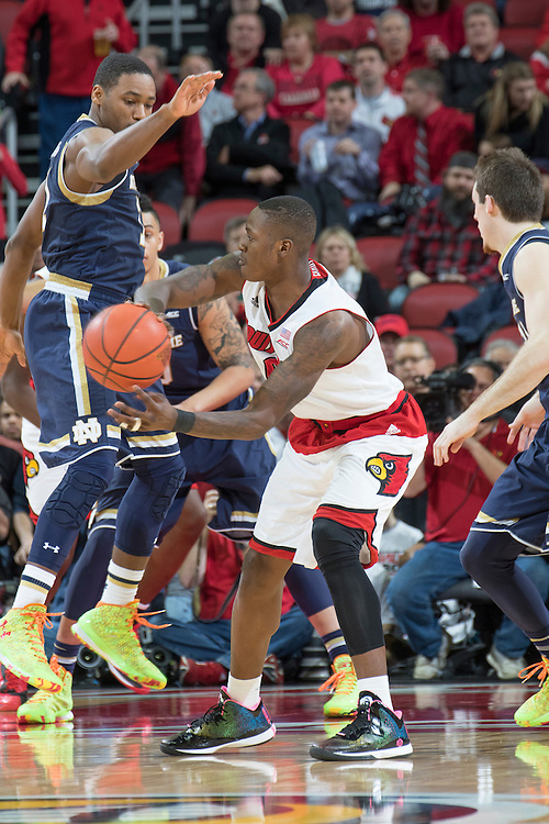 Louisville guard Terry Rozier. <br /> <br /> The University of Louisville hosted Notre Dame, Wednesday, March 04, 2015 at Yum Center in Louisville. <br /> <br /> Photo by Jonathan Palmer