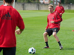 LIVERPOOL, ENGLAND - Wednesday, August 18, 2010: Liverpool's Christian Poulsen during a training session at Melwood ahead of the UEFA Europa League Play-Off 1st Leg match against Trabzonspor A.S. (Pic by: David Rawcliffe/Propaganda)