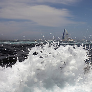 Maxi Yacht Skandia heads down the Eastern coastline of Australia after the start of the 64th Rolex Sydney to Hobart Yacht Race 2008 which began in the waters of Sydney Harbor. Exactly 100 yacht's entered in this years race with spectators on the Sydney Harbor foreshore estimated to have reached over 500,000 people on December 26, 2008. Maxi Wild Oats XI skippered by Mark Richards was looking to make history with a record fourth consecutive line honors victory. Photo Tim Clayton