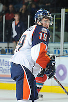 KELOWNA, CANADA, OCTOBER 29: Brendan Ranford #19 of the Kamloops Blazers skates on the ice as the Kamloops Blazers visit the Kelowna Rockets  on October 29, 2011 at Prospera Place in Kelowna, British Columbia, Canada (Photo by Marissa Baecker/Shoot the Breeze) *** Local Caption *** Brendan Ranford;