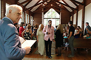 Couples renewed their vows in the brand new wedding chapel in the woods at Graceland, in Memphis, Tennessee during the 2018 Elvis Week Celebrations.