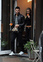 Abbey Clancy and her dancing partner Aljaz Skorjanec seen in North London. UK. 22/10/2013<br />BYLINE MUST READ : GOTCHAIMAGES.COM<br /><br />Copyright by © Gotcha Images Ltd. All rights reserved.<br />Usage of this image is conditional upon the acceptance <br />of Gotcha Images Ltd, terms and conditions available at<br />www.gotchaimages.com