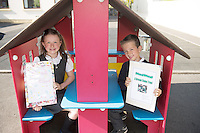 Siblings Zoe and Nathan Rogers  pupils from North Hampton National school  Co. Galway who will be presented with medals for their prize-winning original story at this year&rsquo;s Write a Book / Scr&iacute;obh Leabhair competition, run by Galway Education Centre, in the Radisson Hotel on Thursday 30th April. <br />  Photo: Andrews Downes XPOSURE