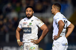 George Moala of Clermont Auvergne looks on during a break in play - Mandatory byline: Patrick Khachfe/JMP - 07966 386802 - 06/12/2019 - RUGBY UNION - The Recreation Ground - Bath, England - Bath Rugby v Clermont Auvergne - Heineken Champions Cup