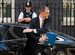 © Licensed to London News Pictures. 24/05/2019. London, UK. Government Chief Whip JULIAN SMITH is seen arriving at Downing Street in Westminster, London. The Prime Minister has come under huge pressure to quit over her handing of negotiations over the UK's exit from the European Union. Photo credit: Ben Cawthra/LNP