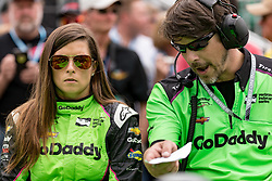 May 19, 2018 - Indianapolis, IN, U.S. - INDIANAPOLIS, IN - MAY 19: Danica Patrick, driver of the #13 Ed Carpenter Racing Chevrolet, discusses strategy during Indianapolis 500 qualifications on May 19, 2018, at the Indianapolis Motor Speedway Road Course in Indianapolis, Indiana. (Photo by Adam Lacy/Icon Sportswire) (Credit Image: © Adam Lacy/Icon SMI via ZUMA Press)