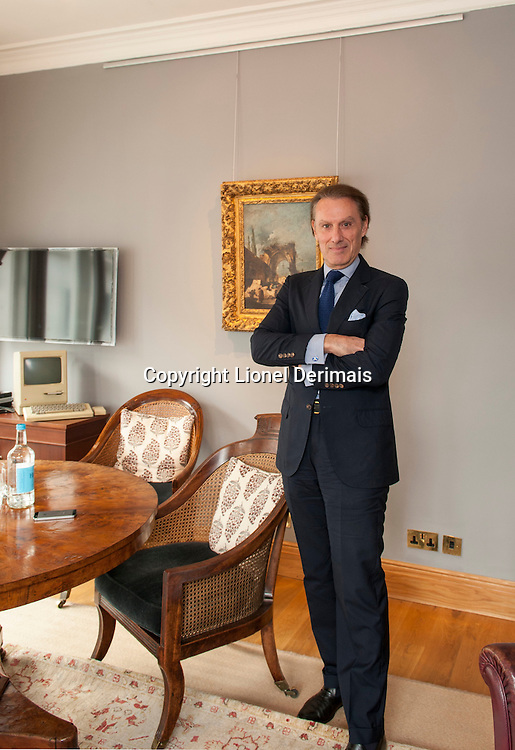 Christie's CEO Steven Murphy's office, King street, London. With a painting by Guardi on the wall.