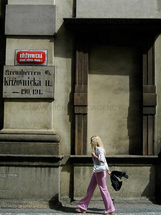 Street scene - Prague, Czech Republic.