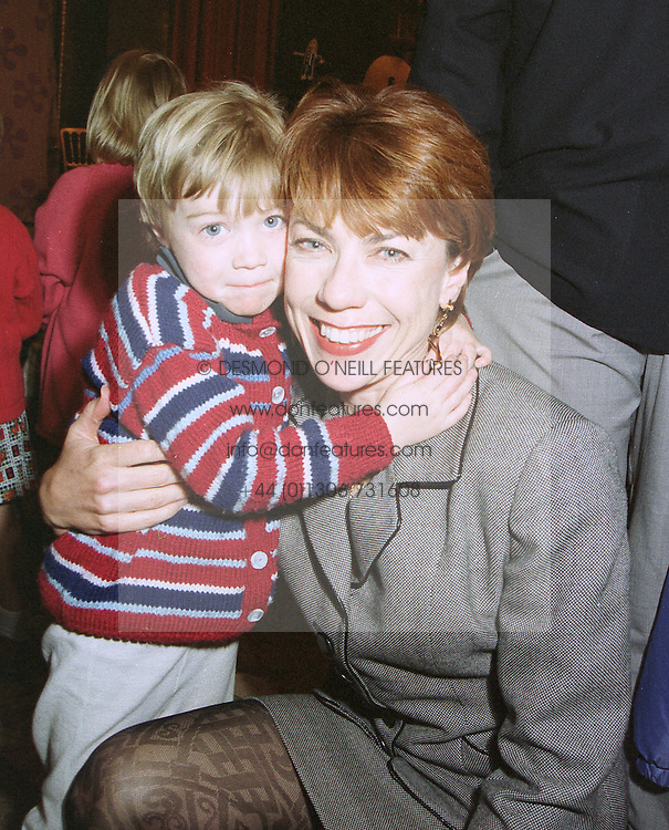 MISS GEORGIE ROBERTSON and her mother KATHY LETTE, she is married to Geoffrey Lette QC and is a good friend of Cherie Blair, at a party in London on April 3rd 1997.LXH 28