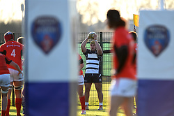 Will Capon (BGS) of Bristol Rugby Academy U18 throws the ball into the line-out - Mandatory by-line: Paul Knight/JMP - 21/01/2017 - RUGBY - SGS Wise Campus - Bristol, England - Bristol Academy U18 v Saracens Academy U18 - Premiership Rugby Academy U18 League