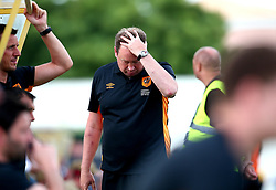 Hull City manager Leonid Slutsky looks frustrated - Mandatory by-line: Robbie Stephenson/JMP - 18/07/2017 - FOOTBALL - Estadio da Nora - Albufeira,  - Hull City v Bristol Rovers - Pre-season friendly