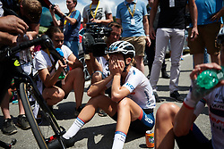 Cecilie Uttrup Ludwig (DEN) recovers after La Course by Le Tour de France 2018, a 112.5 km road race from Annecy to Le Grand Bornand, France on July 17, 2018. Photo by Sean Robinson/velofocus.com