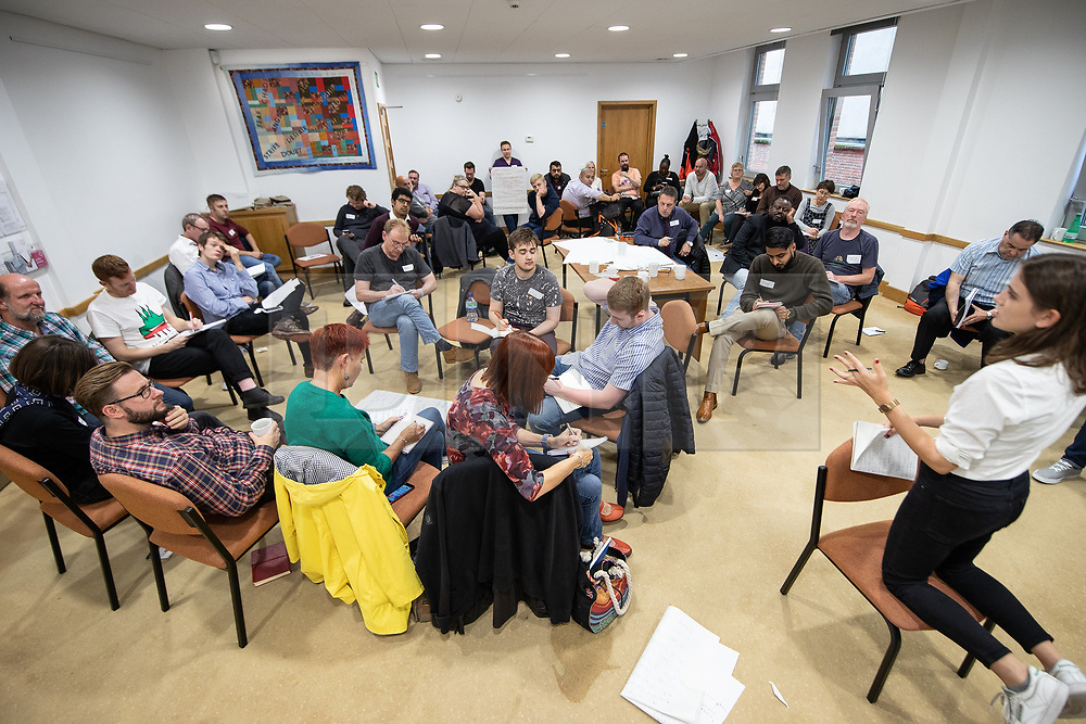 © Licensed to London News Pictures . 08/09/2018 . Liverpool , UK . Labour Party councillors and prospective councillors take part in a Momentum organised training session at Quaker Meeting House in Liverpool City Centre . The sessions include advice on how councils work , guidance on policies and tactics and work-shopping exersizes on how to select issues to campaign on and tactics for successful campaigning . Photo credit: Joel Goodman/LNP