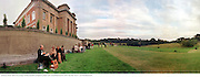 During the interval. Opera at the Grange. 8/7/98.© Copyright Photograph by Dafydd Jones<br /> 66 Stockwell Park Rd. London SW9 0DA<br /> Tel 0171 733 0108