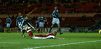 Photo: Andrew Unwin.<br /> Middlesbrough v Liteks Lovech. UEFA Cup. 15/12/2005.<br /> Middlesbrough's Massimo Maccarone (C) heads home his team's first goal.