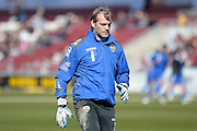 Notts County Goalkeeper Roy Carroll during the Sky Bet League 2 match between Northampton Town and Notts County at Sixfields Stadium, Northampton, England on 2 April 2016. Photo by Dennis Goodwin.