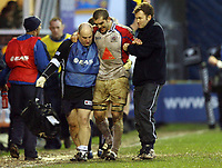 Photo: Rich Eaton.<br /> <br /> Sale Sharks v Bristol Rugby. Guinness Premiership. 01/01/2007. Joe El Abd  of Bristol leaves the pitch in the first half with a leg injury