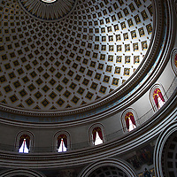 Domed ceiling design pattern,<br />