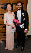 Stockholm 23-10-2015<br /> <br /> Attendance at the Royal Swedish Academy of Engineering Sciences' formal gathering<br /> <br /> Prince Carl Philip, Princess Sofia <br /> <br /> <br /> Photo: Royalportraits Europe/Bernard Ruebsamen