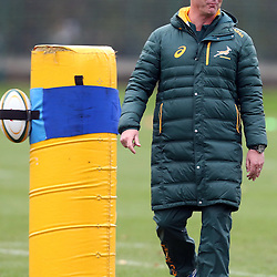 LONDON, ENGLAND - NOVEMBER 11: Springbok coach Heyneke Meyer during the South African National rugby team training session at Latymer Upper School Sports Grounds on November 11, 2014 in London, England. (Photo by Steve Haag/Gallo Images)