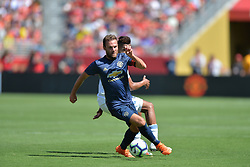 July 22, 2018 - Santa Clara, California, United States - Santa Clara, CA - Sunday July 22, 2018: Juan Mata during a friendly match between the San Jose Earthquakes and Manchester United FC at Levi's Stadium. (Credit Image: © John Todd/ISIPhotos via ZUMA Wire)