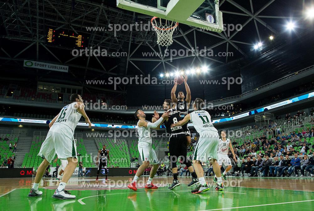 Trent Lockett of Trento during basketball match between KK Union Olimpija Ljubljana and Dolomiti Energia Trento (ITA) in Round #1 of EuroCup 2015/16, on October 14, 2015 in Arena Stozice, Ljubljana, Slovenia. Photo by Vid Ponikvar / Sportida