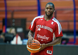 Erving Walker of SIG Strassbourg at warming up prior to the basketball match between KK Cibona Zagreb (CRO) and SIG Strasbourg in Round #6 of FIBA Champions League 2016/17, on November 23, 2016 in Drazen Petrovic Basketball center, Zagreb, Croatia. Photo by Vid Ponikvar / Sportida