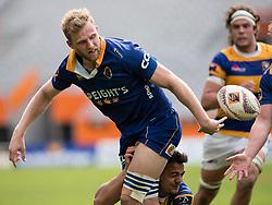 Otago's Josh Dickson, left, offloads a pass against Bay of Plenty in the Mitre 10 Cup rugby match, Forsyth Barr Stadium, Dunedin, New Zealand, Oct. 7 2017.  Credit:SNPA / Adam Binns ** NO ARCHIVING**