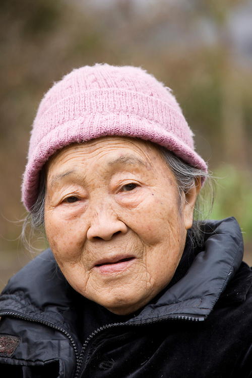 Elderly Chinese woman in Chongqing, China