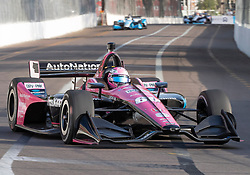 March 10, 2019 - St. Petersburg, FL, U.S. - ST. PETERSBURG, FL - MARCH 10: Meyer Shank Racing with Schmidt Peterson Motorsports driver Jack Harvey (60) of Great Britain during the IndyCar Series - Firestone Grand Prix Race on March 10 in St. Petersburg, FL. (Photo by Andrew Bershaw/Icon Sportswire) (Credit Image: © Andrew Bershaw/Icon SMI via ZUMA Press)
