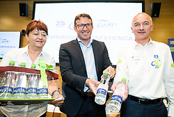 Mojca Novak, Luka Velepič, CEO of Costella d.o.o. and Bogdan Fink during press conference of cycling race Tour Slovenia 2018, on May 17, 2018, in Ljubljana, Slovenia. Photo by Vid Ponikvar / Sportida