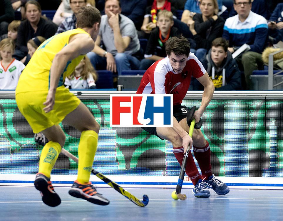 BERLIN - Indoor Hockey World Cup<br /> Semi-final 2: Australia - Austria<br /> foto: Sebastian Eitenberger.<br /> WORLDSPORTPICS COPYRIGHT FRANK UIJLENBROEK