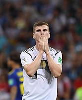 FUSSBALL WM 2018  Vorrunde  Gruppe F   ----- Deutschland - Schweden       23.06.2018 Timo Werner (Deutschland) nachdenklich