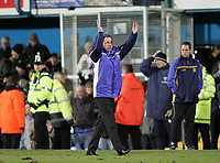 Photo: Lee Earle.<br /> Portsmouth v West Bromwich Albion. The Barclays Premiership. 17/12/2005. Portsmouth manager Harry Redknapp celebrates their win at the end of the match.