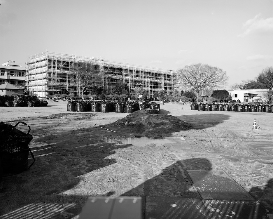 Tomioka Elementary school  2015 during decontamination process