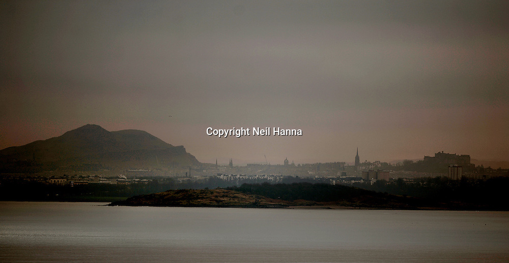 Edinburgh from across the Firth of Forth<br /> Pic Neil Hanna