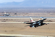 Israeli Air Force (IAF) F-16A (Netz) Fighter jet at takeoff