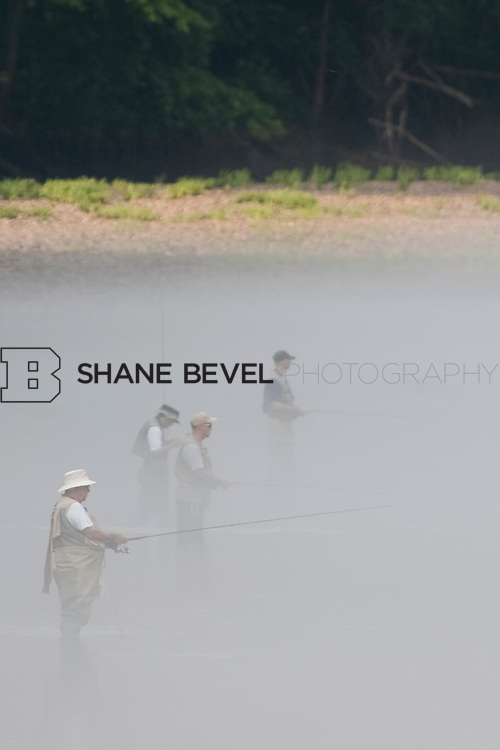 Anglers trout fishing along the Lower Illinois River near Gore, Oklahoma. ..Photo by Shane Bevel