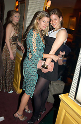 Left to right, SARA BUYS fiance of Tom Parker Bowles and KATE SUMNER daughter of Sting at a private dinner and presentation of Issa's Autumn-Winter 2005-2006 collection held at Annabel's, 44 Berkeley Square, London on 15th March 2005.<br />