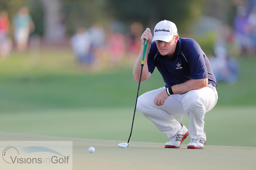 Marcus Fraser during the third round of the Race To Dubai DP World Tour Golf Championship, Dubai, UAE November  2013<br /> Picture Credit:  Mark Newcombe / www.visionsingolf.com