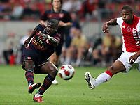 Photo: Maarten Straetemans.<br /> Arsenal v Ajax. LG Amsterdam Tournament. 04/08/2007.<br /> Emmanuel Eboue of Arsenal (left)