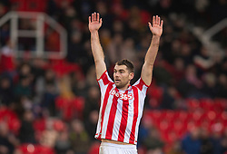 STOKE-ON-TRENT, ENGLAND - Saturday, January 25, 2020: Stoke City's Sam Vokes during the Football League Championship match between Stoke City FC and Swansea City FC at the Britannia Stadium. (Pic by David Rawcliffe/Propaganda)