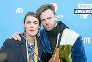 2018-03-24. Club Panama, Amsterdam. Veed Awards 2018. Op de foto: Tim Hofman en Lize Korpershoek