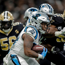Dec 30, 2018; New Orleans, LA, USA; Carolina Panthers running back Cameron Artis-Payne (34) against the New Orleans Saints during the first half at the Mercedes-Benz Superdome. Mandatory Credit: Derick E. Hingle-USA TODAY Sports
