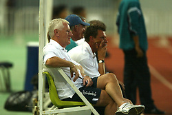 BANGKOK, THAILAND - Wednesday, July 23, 2003: Liverpool's player liaison Norman Guard during a training session in at the Rajamangala National Stadium. (Pic by David Rawcliffe/Propaganda)