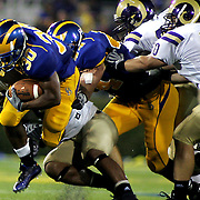 Delaware running back (#30) Andrew Pierce carries the ball for a first down in the second quarter Delaware lead 21-0  ....